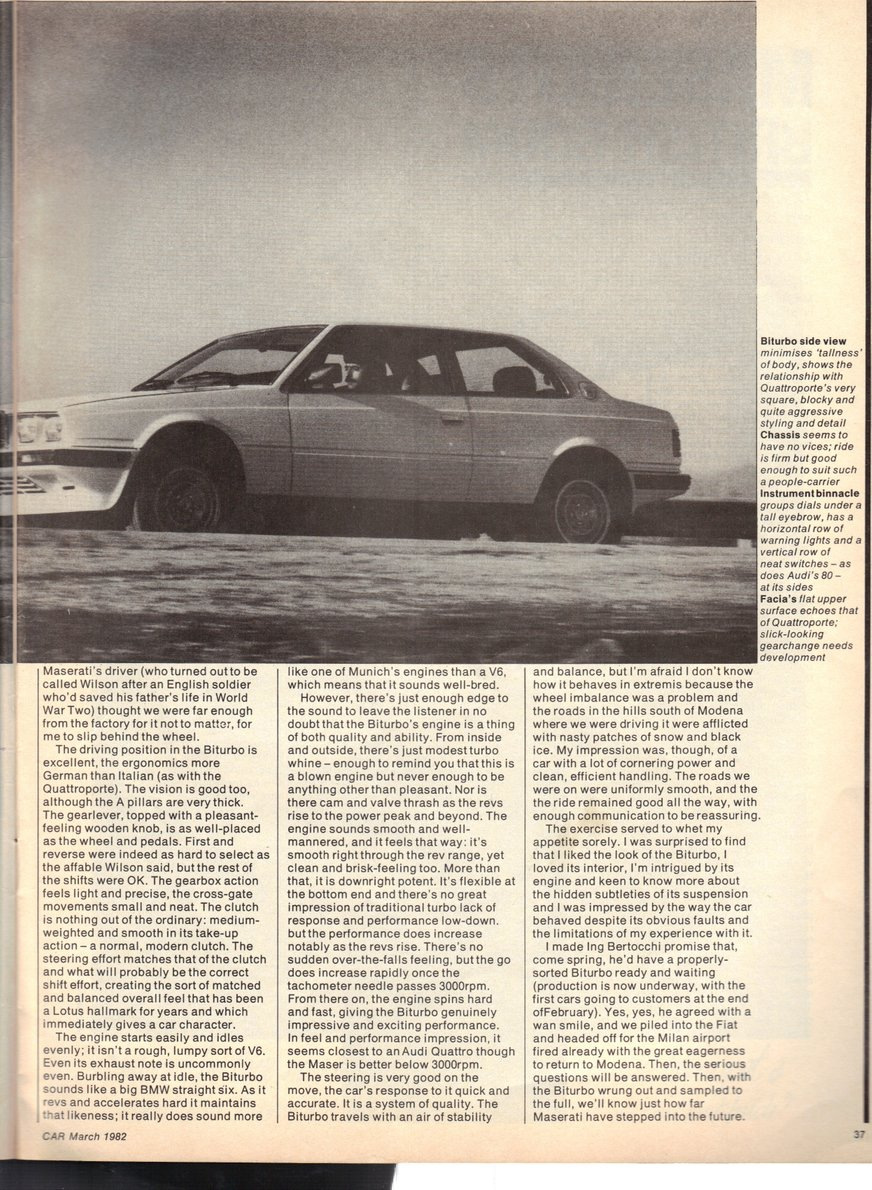 Copyright Foto: Colin Curwood / Text Mel Nichols of CAR Magazine 1982, all rights reserved