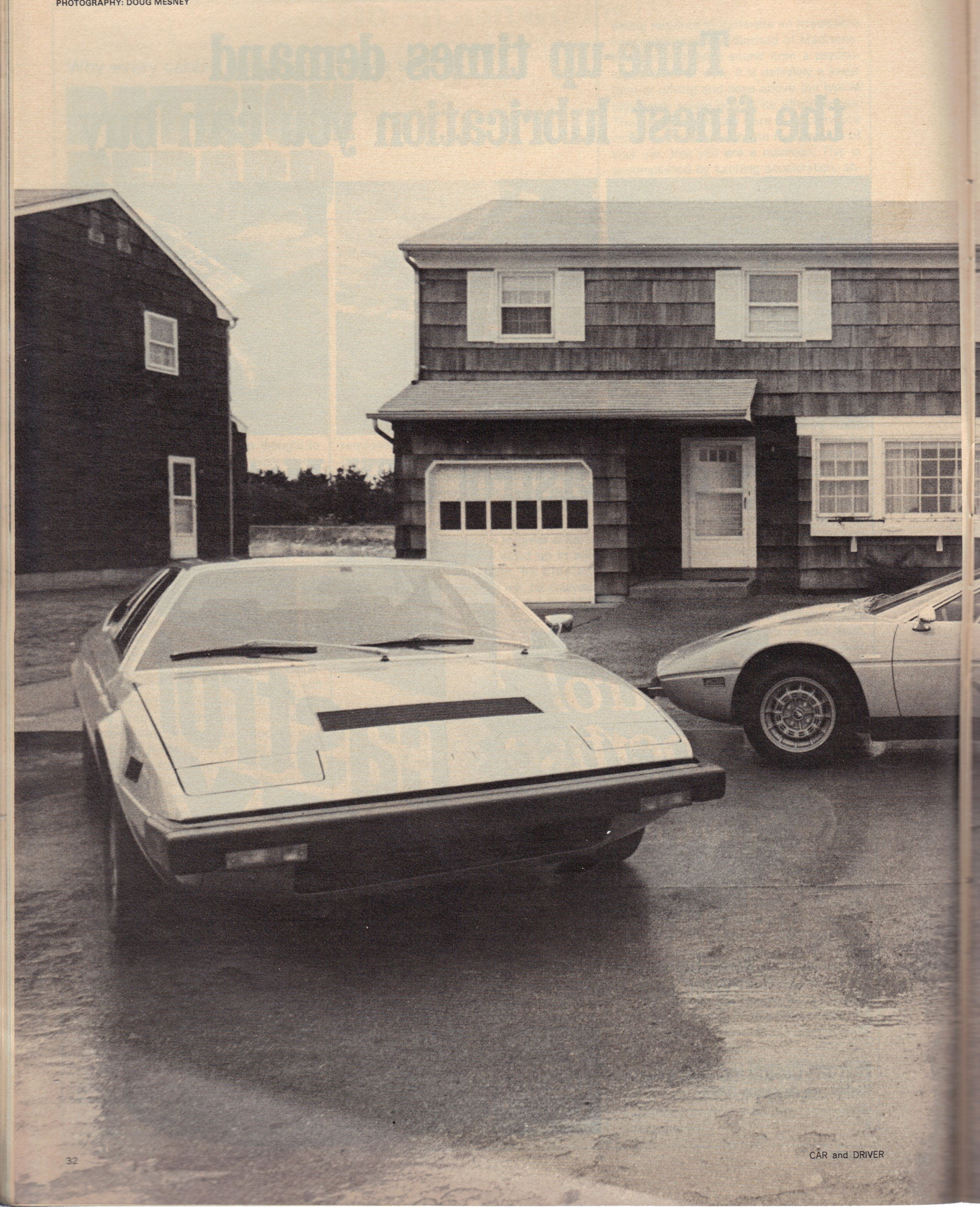 Copyright Car & Driver Magazine, Foto: Doug Mesney, Text Patrick Bedard 1975, All rights reservec