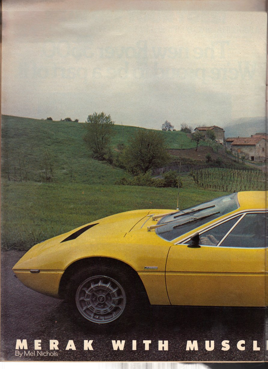 Copyright CAR Magazine Photo: Richard Cooke / Text: Mel Nichols 1976, all rights reserved