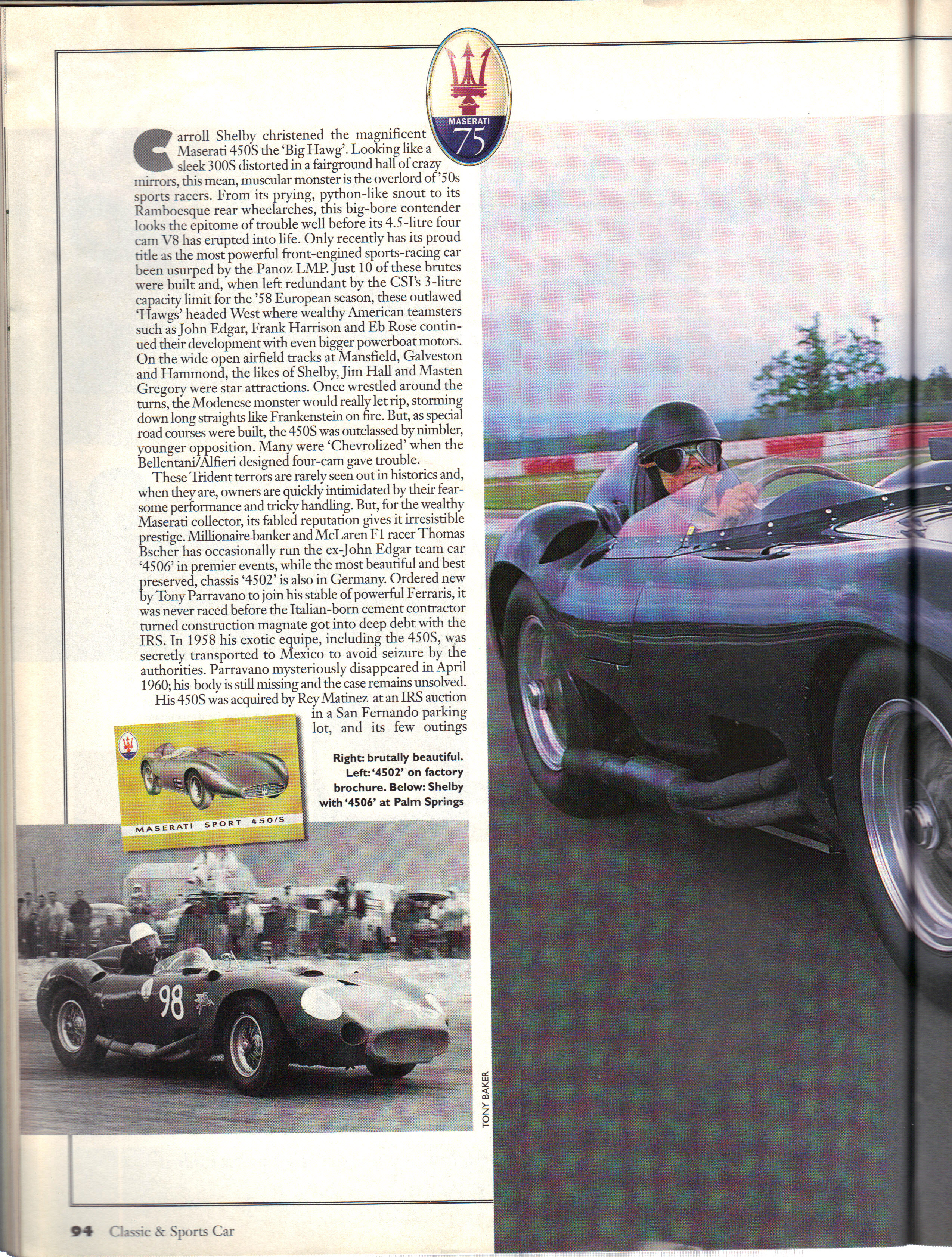 Copyright Classic & Sports Car Photo Tony Baker, all rights reserved